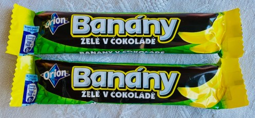 Nestlé Orion Banány Zele v cokolade Schokobananen aus Tschechien