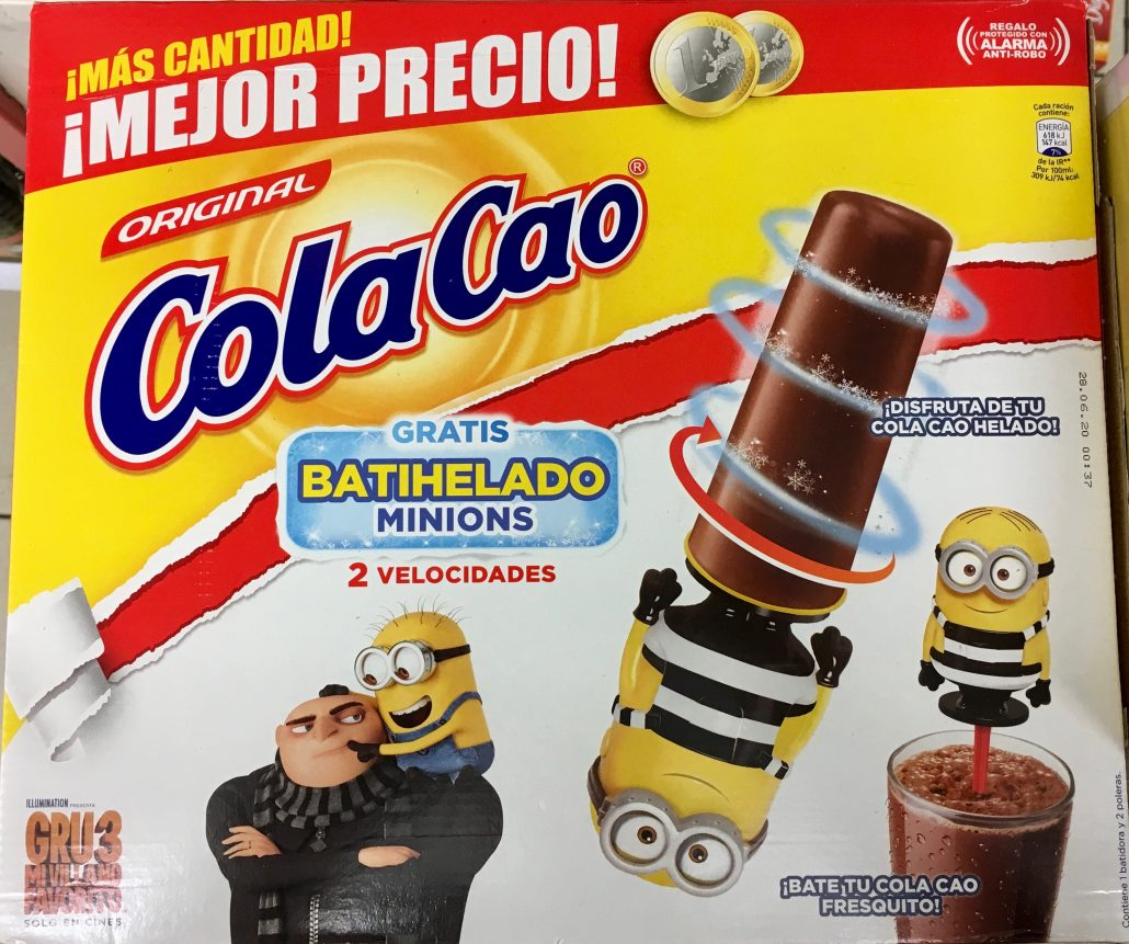 ColaCao Minions Spanien Wassereis
