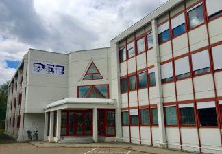 PEZ-Zentrale in Traun, Österreich