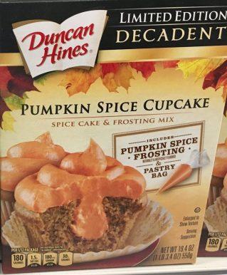 Duncan Hines Pumpkin Spice Cupcake