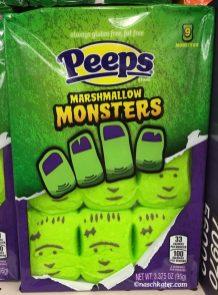 peeps marshmallow monsters green halloween