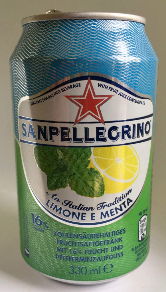 San Pellegrino Limone Menta in der Dose