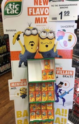 TicTac Minions Display