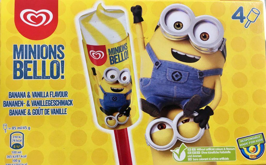 Langnese Unilever Stieleis Minion Eis