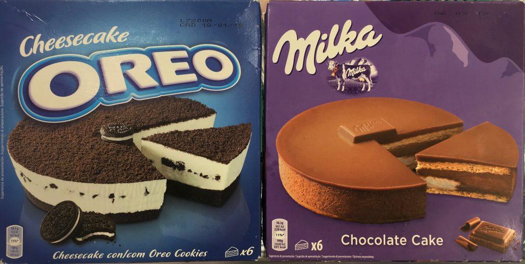 Oreo und Milka Kuchen