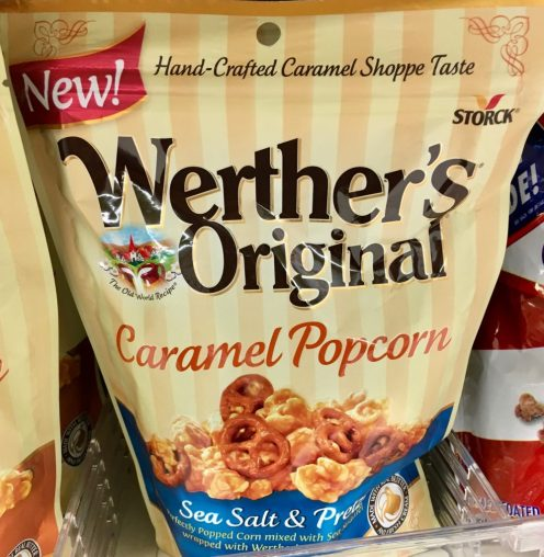 Werthers Original Caramel Popcorn Sea Salt Pretzels