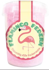 Liebeskummerpillen Flamingo-Federn Zuckerwatte
