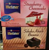 Meßmer Strawberry Cheesecake Schoko-Kirsch-Brownie