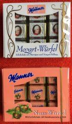 Mozart Würfel Manner Nuss-Würfel Österreich