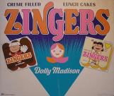 Zingers Werbung mit Charlie Brown und den Peantus