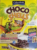 DAs hat mich wirklich überrascht: Selbst die Kaufland-Cerealien-Eigenmarke Crownfield macht schon On-Product-Marketing und bietet in diesem Fall der Choco Shells Gutscheine für an.