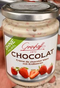 Grashoff Chocolat Weiße Schokolade mit Erdbeeren