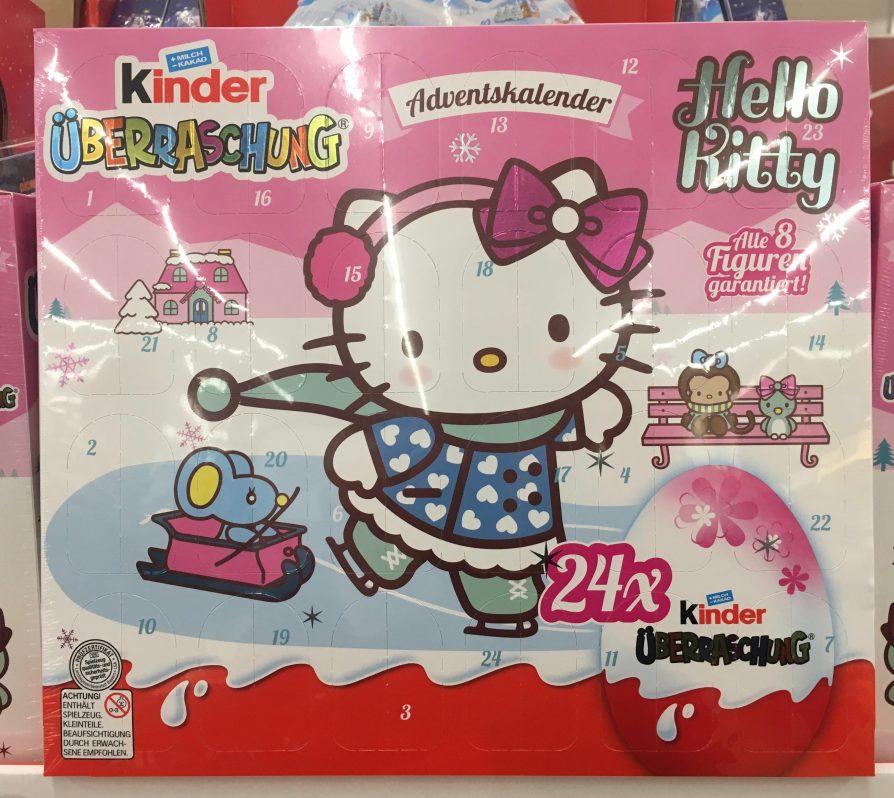 Hello Kitty Adventskalender Überraschungseier Ferrero