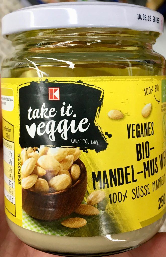 Kaufland take it veggie Veganes Bio-Mandel-Mus