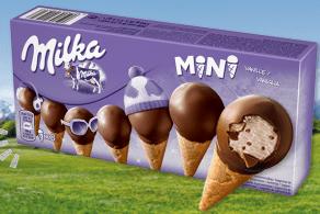 Milka Mini Eistüten Eiskrem