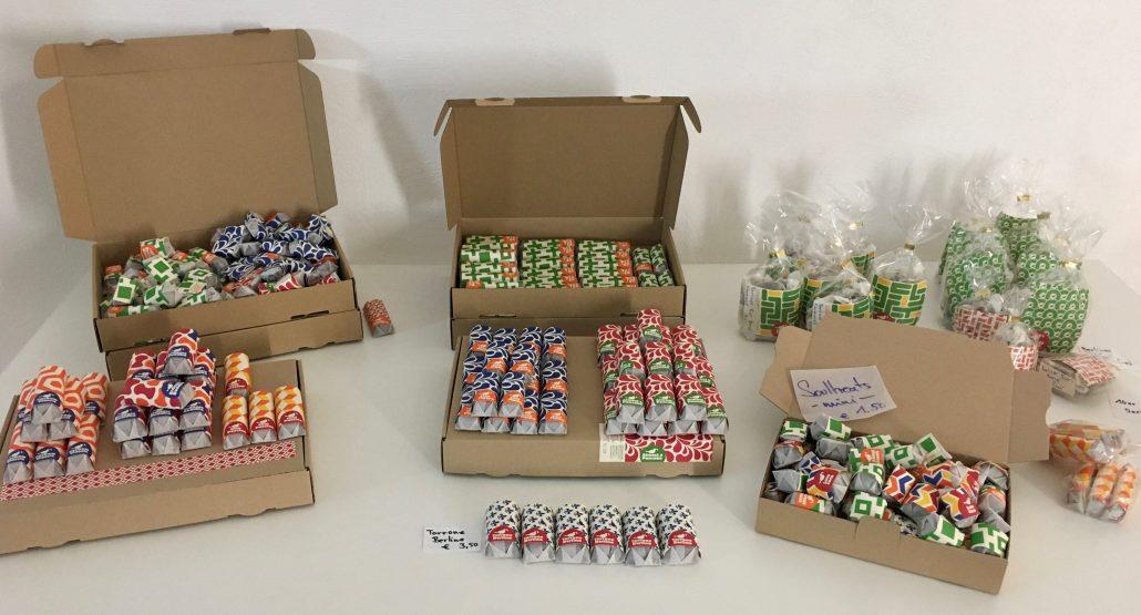 Candy Farm Warentisch Varianten