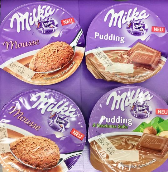 Milka Mousse Pudding und Haselnuss-Pudding