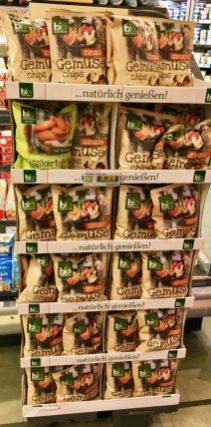 BioZentrale GemüseChips Aufsteller Display