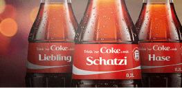 Coca Cola Personalisierte Etiketten