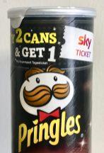 Pringles mit Sky-Abo-Werbung