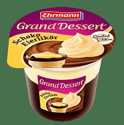 Ehrmann-Pudding Gran Ddessert Schoko-Eierlikoer und Karamell 190 Gramm