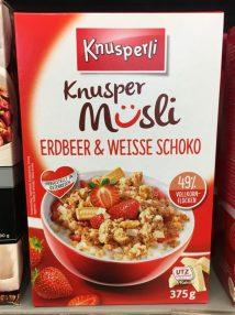 Knusperli Müsli Erdbeer Weisse Schoko