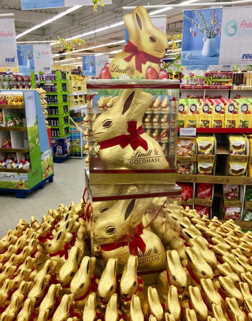 Lindt Riesenosterhase Schokolade Display 1 Kilo Schokolade