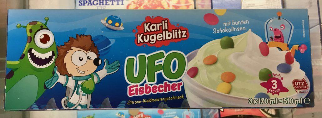 Netto Karli Kugelblitz Eisbecher mit Geschmack Zitrone-Waldmeister