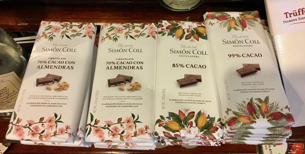 Simon Coll Schokoladentafeln