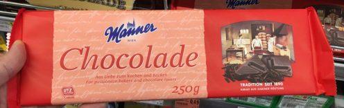 Manner Chocolade Haushaltsschokolade