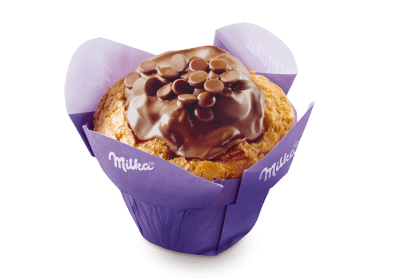 Milka Muffin Original gebrandet Backwaren