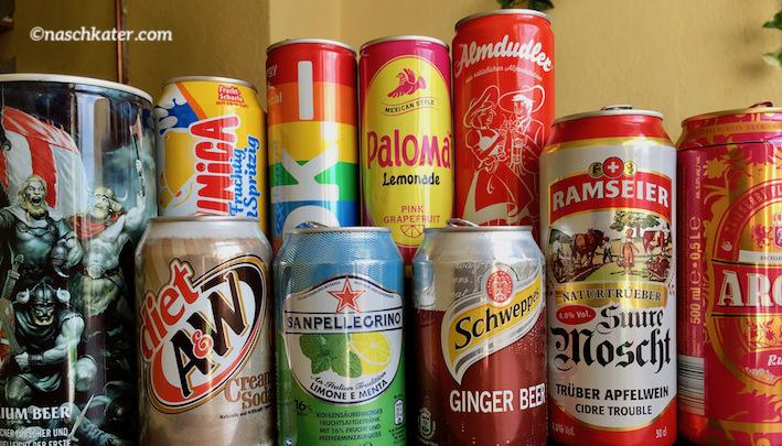 Einfach schöne Getränkedosen und kuriose Getränke