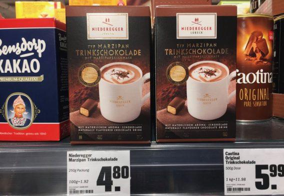 Niederegger Trinkschokolade mit Marzipan