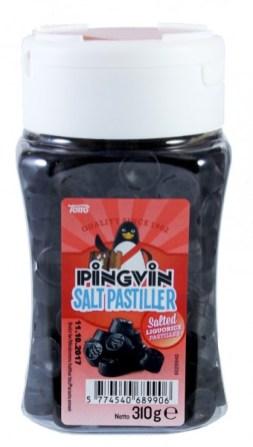 Tom's Pingvin-Salzlakritz-Salt Pastiller Pastillen Dose
