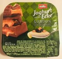 Müller Joghurt mit der Ecke London Salted Caramel