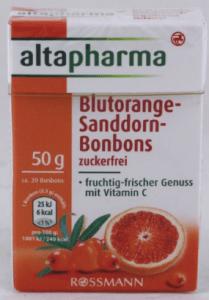 altaphrma Blutorange Sanddorn-Bonbons