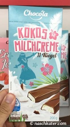 Penny Chocola Kokos Milchcreme 11 Riegel Schokostäbchen