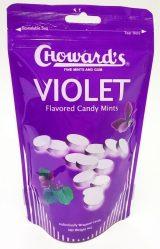 Chowards Violet Flavored Candy Mints Standbeutel