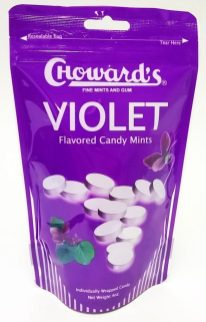 Chowards Violet Flavored Candy Mints Standbeutel