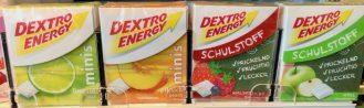 dextro energy verschiedene sorten kartons