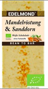 Edelmond Mandelröstung + Sanddorn weiße Schokolade