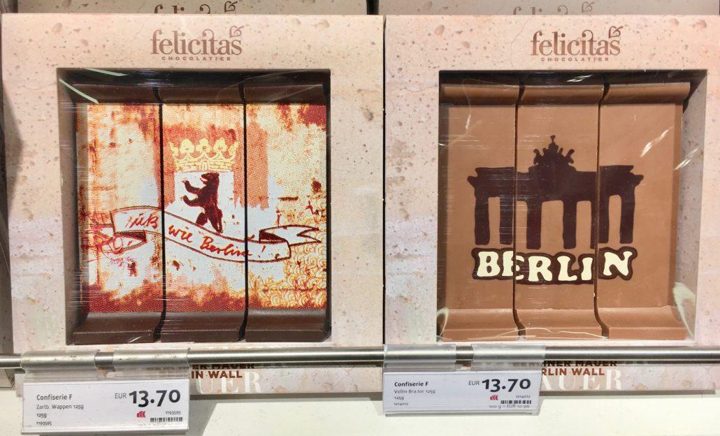 Felicitas Berlin Souvenir Schokolade Mauerstücke