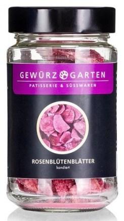 Gewürzgarten Kandierte Rosenblütenblätter Gewürzmühle