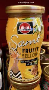 schwartau samt fruity yellow mango ananas