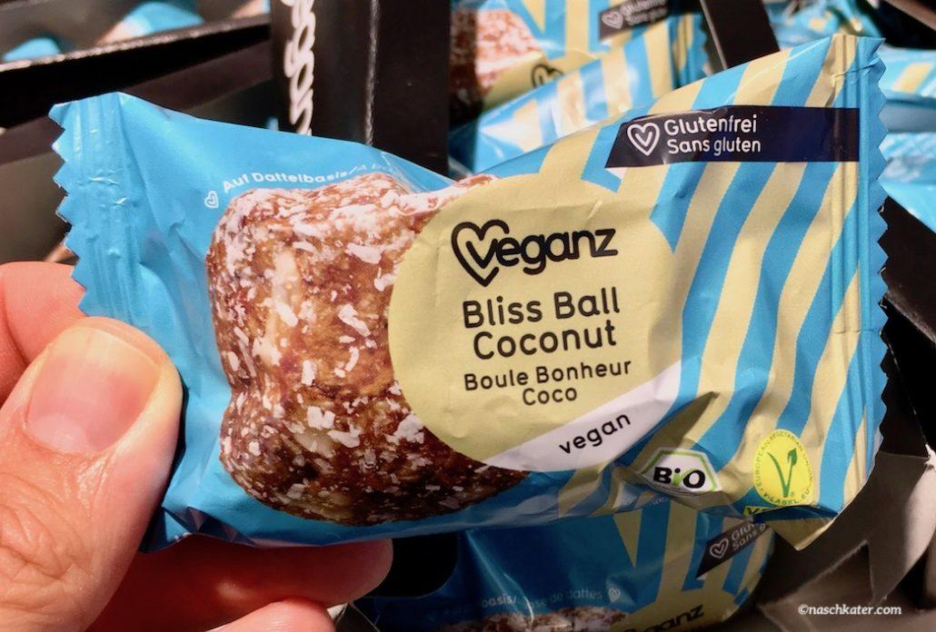 veganz bliss ball coconut riegel