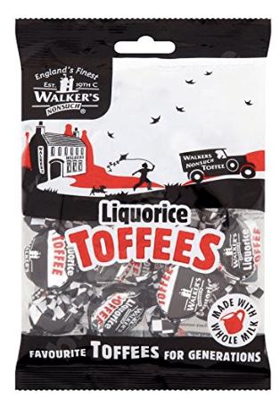 Walkers Liquorice Toffees