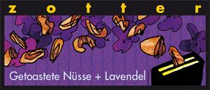 Zotter Getoastete Nüsse+Lavendel Schokolade