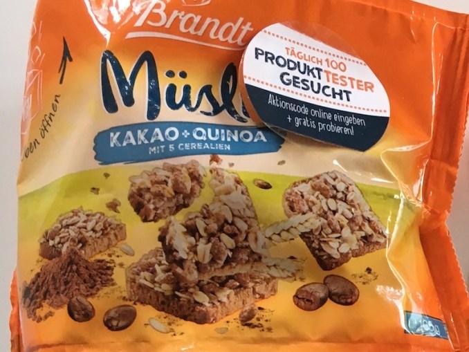 Brandt Müsli Kakao Quinoa Gratis testen