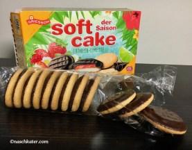 Griesson Softcake mit Erdbeer-Limetten-Füllung.