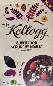 WK Kellogg Superfood Crunchy Müsli Cacao & Nuts